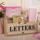 Wooden Letter Rack And Office Storage