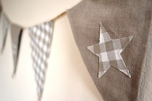 Cream Cottage Bunting - outdoor decorations