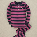 Pink Striped Labrador Pyjamas