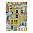 All Over Shopfronts Blank Greetings Card