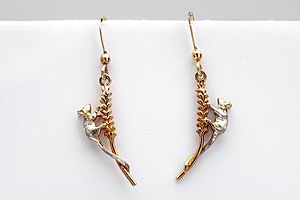 Mice On Corn Earrings - earrings