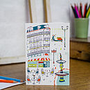 Parisian Life Blank Greetings Card