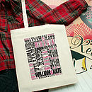 Personalised Wedding Day Tote Bag