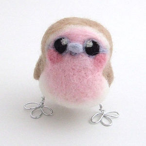 Needle Felted Robin Girl - ornaments