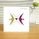 typographic valentine lovebirds card