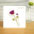 typographic valentine rose card