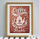 Coffee Print Limited Edition