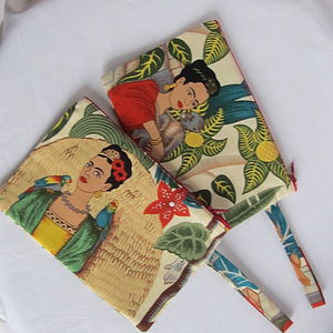 Frida Kahlo Coin Purse Or Make Up Bag