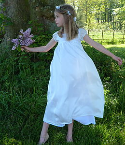 Silk Fairy Dress - flower girl fashion