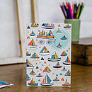 Boating In The Tuileries Gardens Blank Card