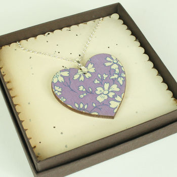 Personalised Fabric Heart Pendant Necklace