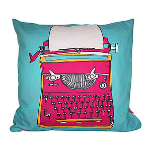 Typewriter Pink Cushion - sale by category