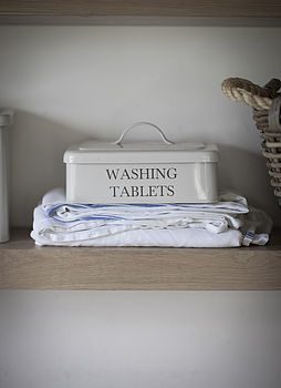 Vintage Style Washing Tablets Box