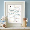 Personalised Ribbon Birth Print