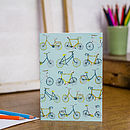 Take The Bike Blank Greetings Card