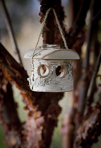 Northern Birch Wooden Bird Feeder - small animals & wildlife