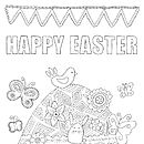 Personalised Colour In Easter Poster