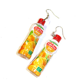 Miniature Juice Bottle Charm Earrings