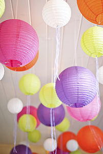 Round Hanging Paper Lantern - lighting