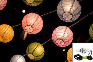 10 White LED Buttonlites For Paper Lanterns - outdoor lights & lanterns