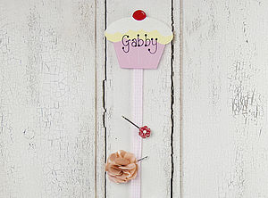 Personalised Cupcake Hair Clip Holder - children's room accessories