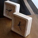 Maple Wood Clock
