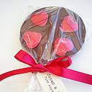Personalised Chocolate Heart Lollipop