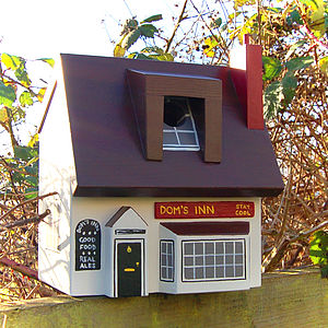 Personalised Pub Bird Box - birds & wildlife