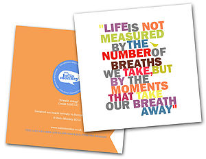 'Breath Away' Type Card