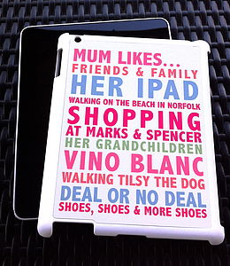 Personalised Likes Case For IPad Two - for her