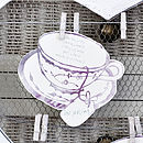 Tea cup seating plan - table named