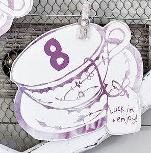 Tea Cup Table Numbers - table numbers