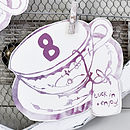 Tea Cup Table Numbers