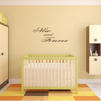 'Now And Forever' Wall Art Quote - Brown