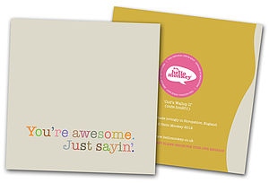 'Awesome' Codswallop Card