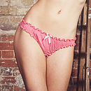 Coral And Snowdrop Organic Knicker Set