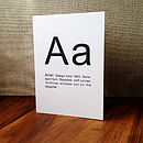 Typographic Letter Font Greetings Card
