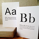 A To Z Typographic Font Greetings Card