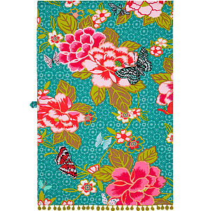 Floral Butterfly Cotton Tea Towel - mother's day gifts
