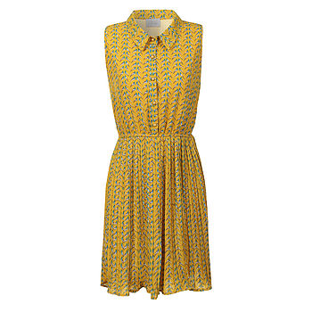 Lovebird Dress in Mustard