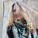 Secret Garden Fine Wool Scarf