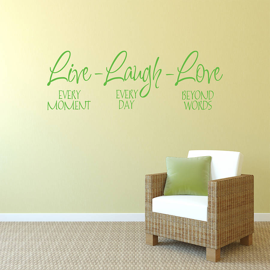 39 live laugh love 39 wall sticker by mirrorin for Live laugh love wall art
