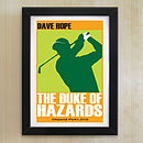 Personalised Men's Golf Print
