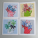 Pack Of Four Jug Of Flowers Cards
