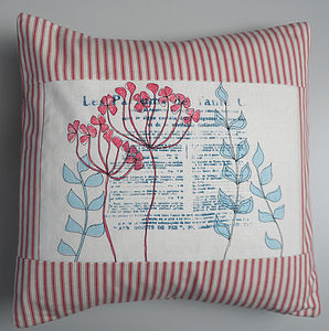 Personalised Printed Agapanthus Cushion