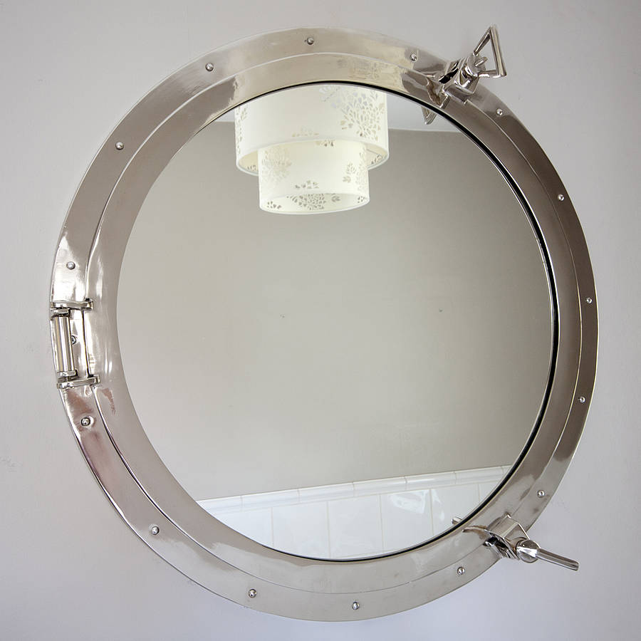 Round porthole mirror by decorative mirrors online for Round mirror
