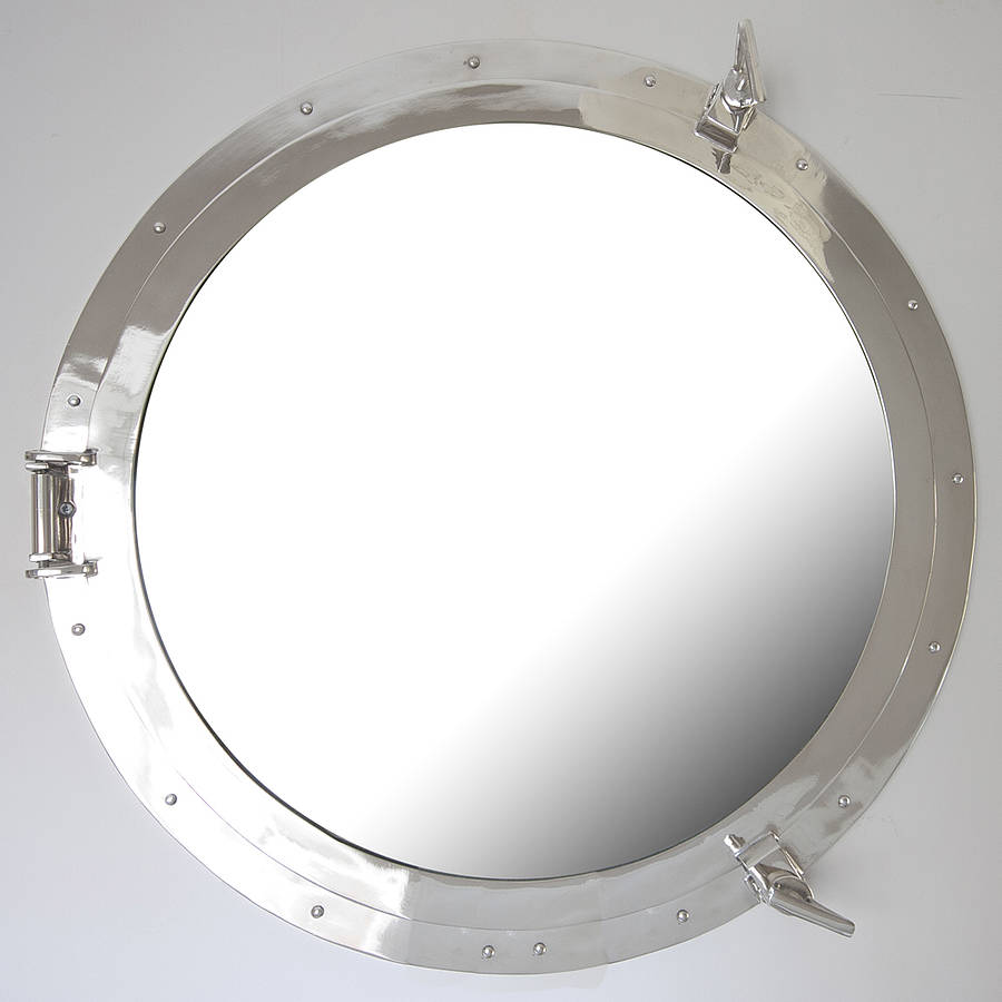 Round porthole mirror by decorative mirrors online for Circle mirror