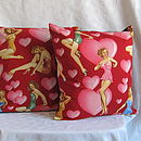St Valentine's Pin Up Girl Cushion