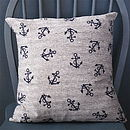 Nautical Anchor Print Cushion