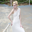 Asymmetrical Wedding Dress With Braids